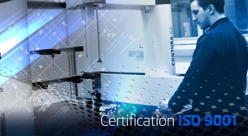 LF MECA est certifiée ISO 9001