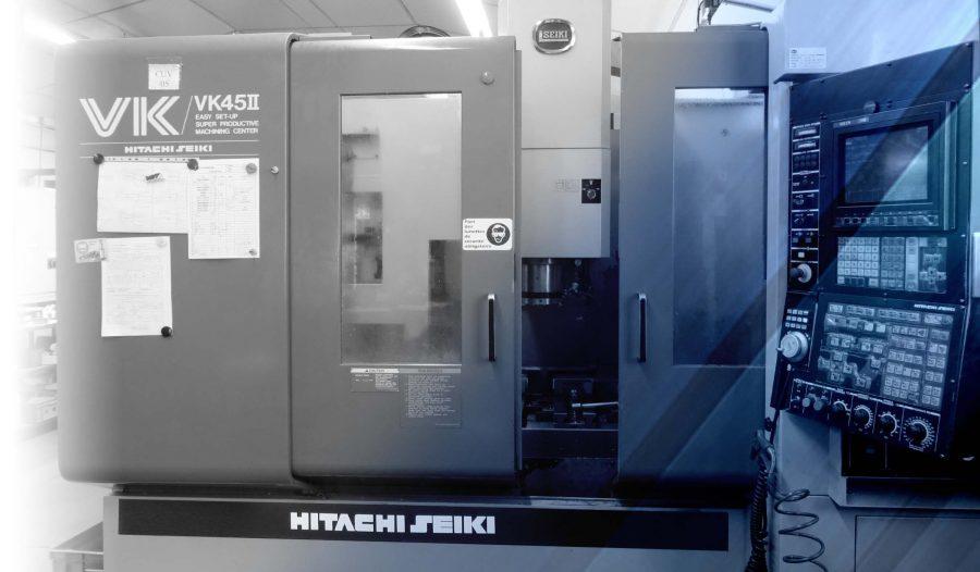 Centre d'usinage vertical 3 et 4 axes HITACHI-SEIKI VK45II, 30 outils X1000 Y500 Z500 (avec diviseur)